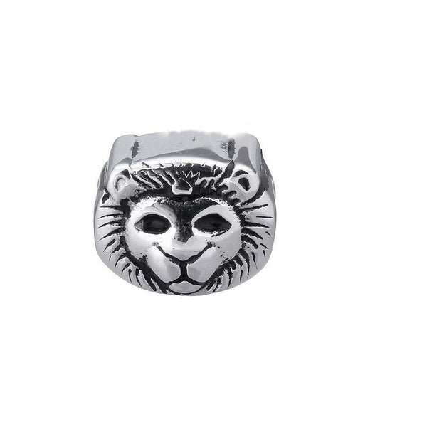 Stainless Steel Lion Animal Charm Bead