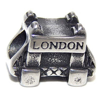 Stainless Steel London Bridge Charm Bead