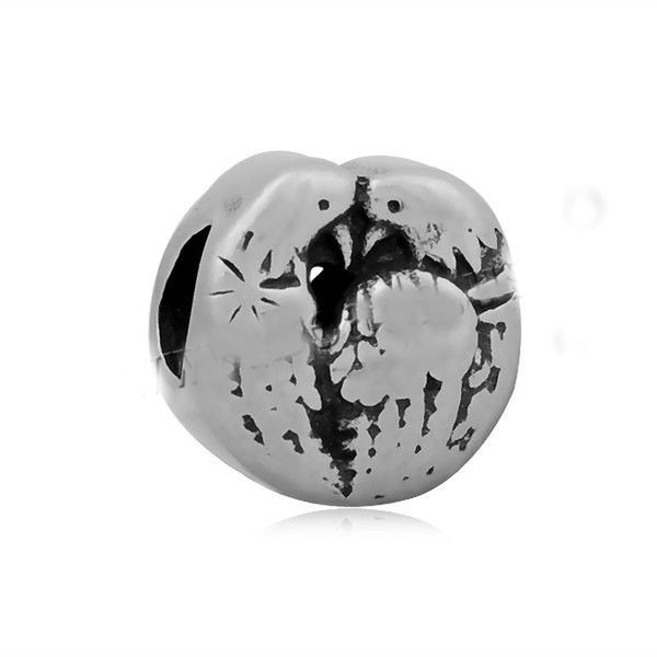 Stainless Steel Love Birds Charm Bead