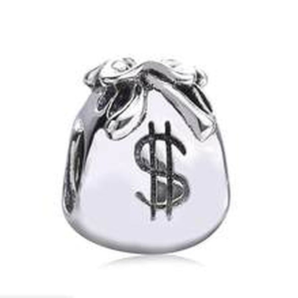 Stainless Steel Money Bags Charm Bead