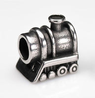 Stainless Steel Train Charm Bead