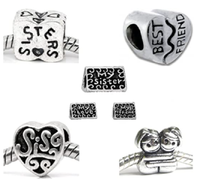 Buckets of Beads Family Inspired Bulk Charms Sister Charm Set