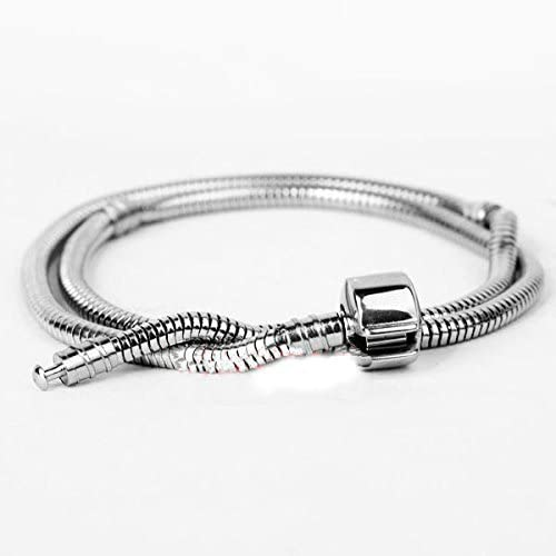 18 Inch Stainless Steel Barrel Clasp Charm Necklace