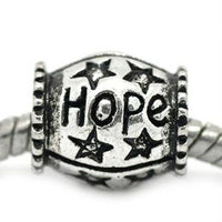 Hope Barrel Charm Bead