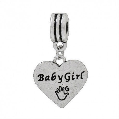 Baby Girl Dangle Charm Bead