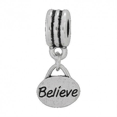 Believe Dangle Charm Bead