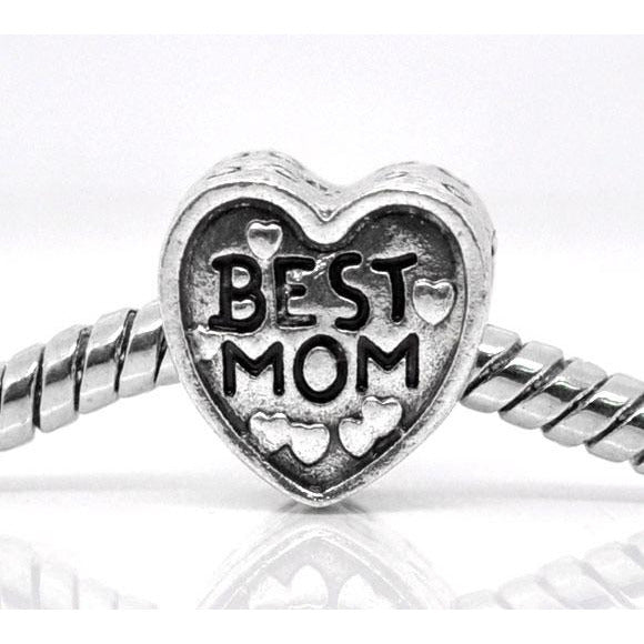 Best Mom Charm Bead