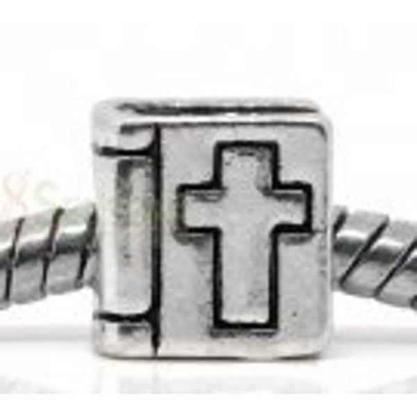 Buckets of Beads Silver Bible Charm Bead