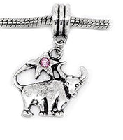 Pink Rhinestone Taurus Dangle Charm