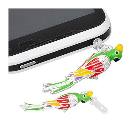 Colorful Enamel Parrot Phone Charm