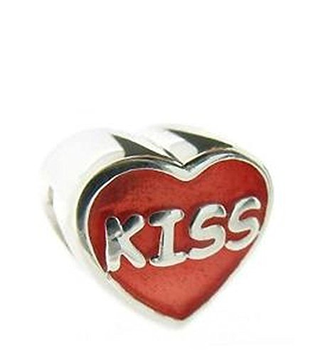 Red Heart Kiss Charm Bead Pandora