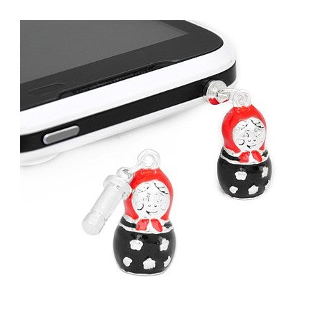 Enamel Russian Doll Phone Charm