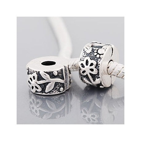 Flower Pot  Clip Lock Stopper Bead