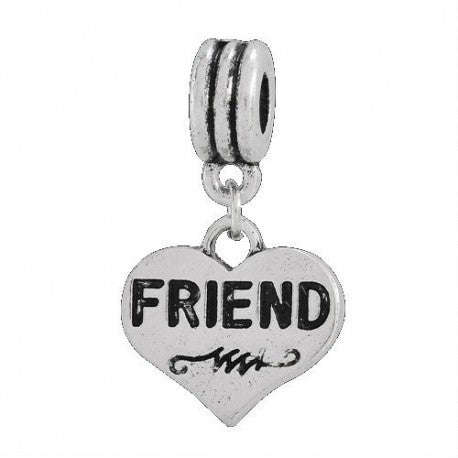 Friend Dangle Charm Bead