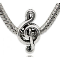 G Clef Music Note Charm Bead