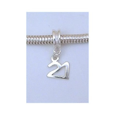 Happy 21st Birthday Dangle Charm Bead