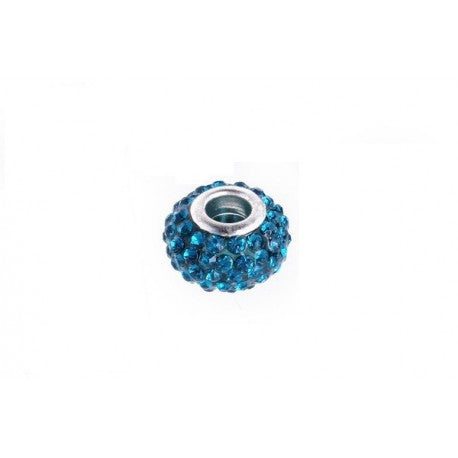 Light Blue Swarovski Crystal Charm Bead