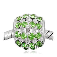Light Green Sprinkles Rhinestone Charm Bead