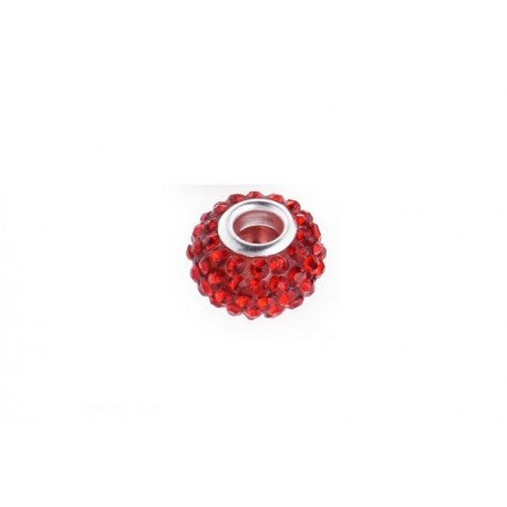 Light Siam Red Swarovski Crystal Charm Bead