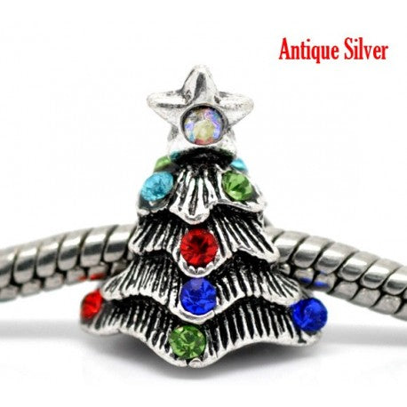Lit Christmas Tree Charm Bead