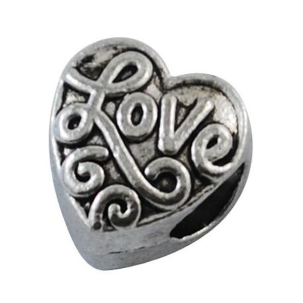 Love Heart Charm Bead