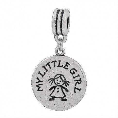 My Little Girl Dangle Charm Bead