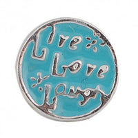 Floating Light Blue Live Love Laugh Charm Compatible With Origami Owl Lockets