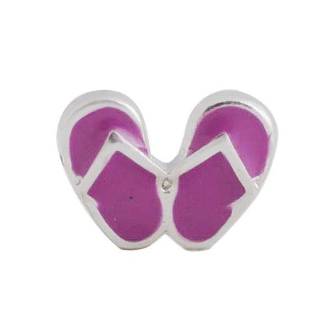 Floating Purple Sandals Charm Compatible With Origami Owl Lockets