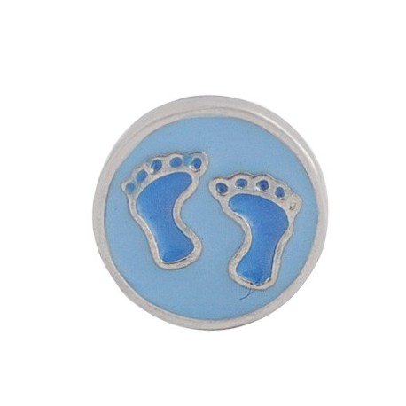 Floating Baby's Feet Charm Compatible With Origami Owl Lockets
