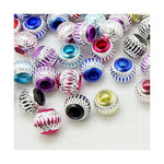 Pack of 10 Assorted Aluminum Charm Beads. Fits All Major Charm Bracelets.
