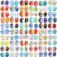1000pc Lot Silver Lampwork Murano Glass Beads