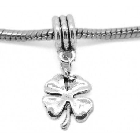 4 Leaf Clover Dangle Charm Bead