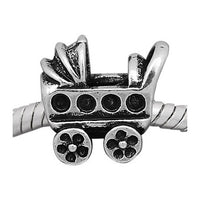 European Style Baby Carriage Charm Bead