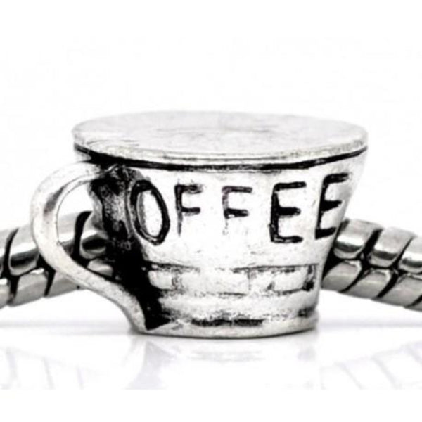 Coffee Cup Charm Bead