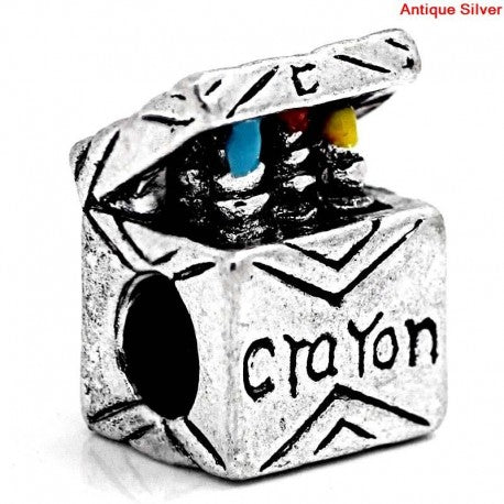 Colorful Crayon Box Charm Bead