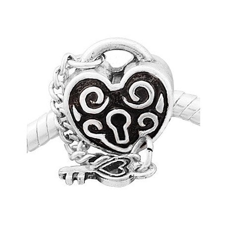 Key To My Heart Bead Charm