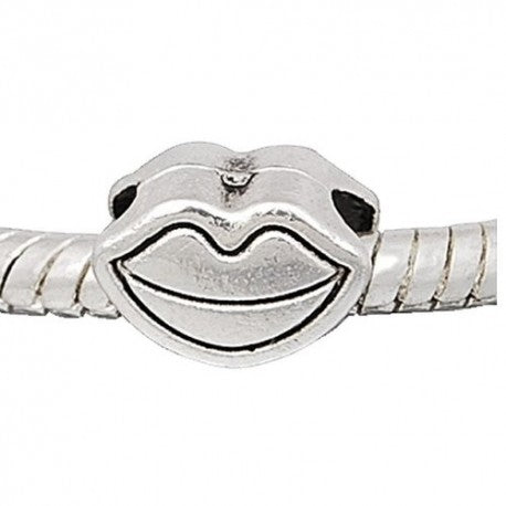 Kissable Lips Spacer Bead Charm