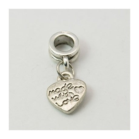 Made With Love Dangle Charm Bead