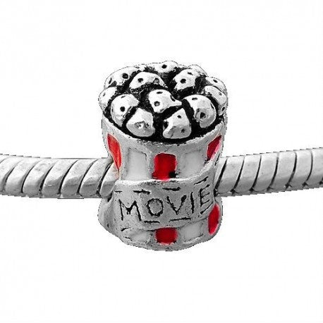 Movie Popcorn Charm Bead