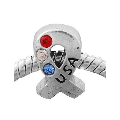Support Our Troops Charm Bead