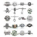 Ten (10) of Assorted Shades of Clear Crystal Rhinestone Charm Beads