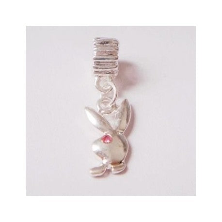 Playboy Bunny Dangle Charm Bead