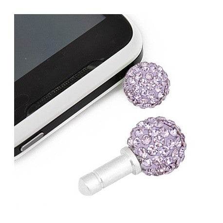 Purple Swarovski Crystal Ball Phone Charm