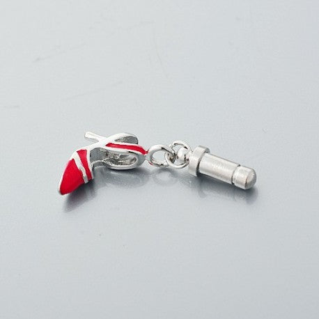 Red High Heel Phone Charm