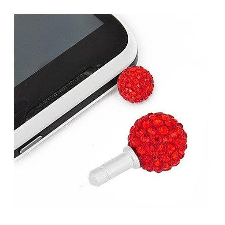 Red Swarovski Crystal Ball Phone Charm