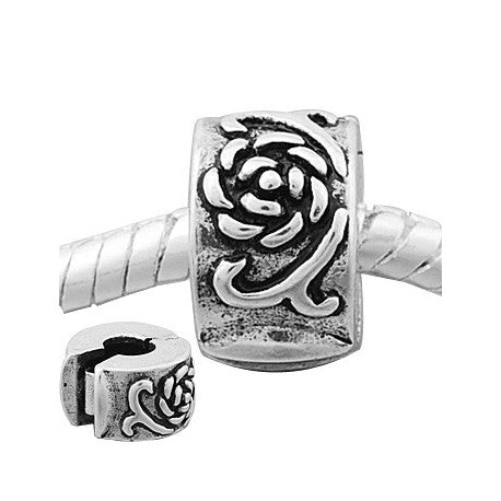Rose Petals  Clip Lock Stopper Bead