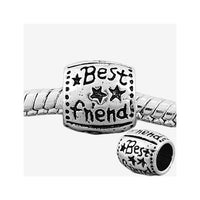 Round Best Friend Charm Bead