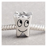 Smiling Tooth Charm Bead