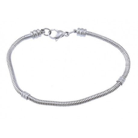 Stainless Steel  7 Inch Screw End Lobster Clasp Bracelet
