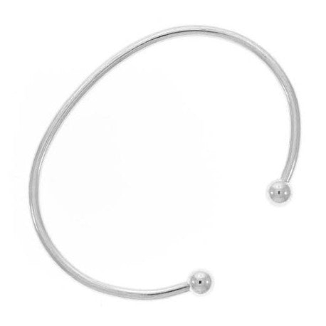 Stainless Steel  Screw End Bangle Cuff Bracelet 6.5 Inch